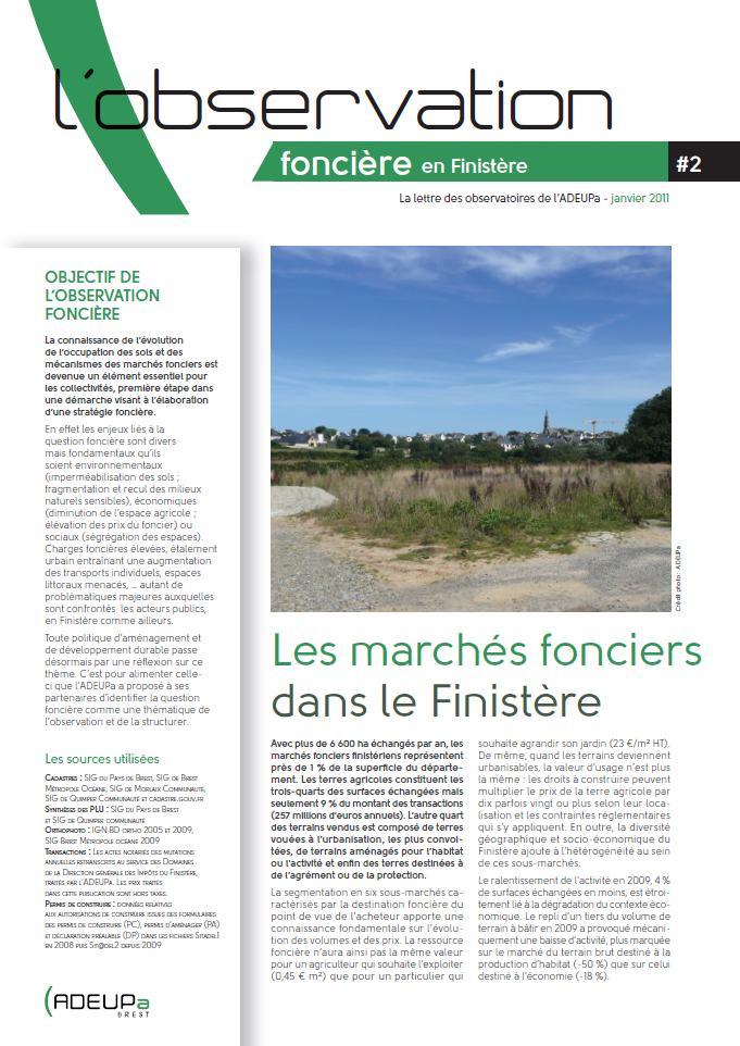 Observation foncière N°2 - Les marchés fonciers dans le Finistère