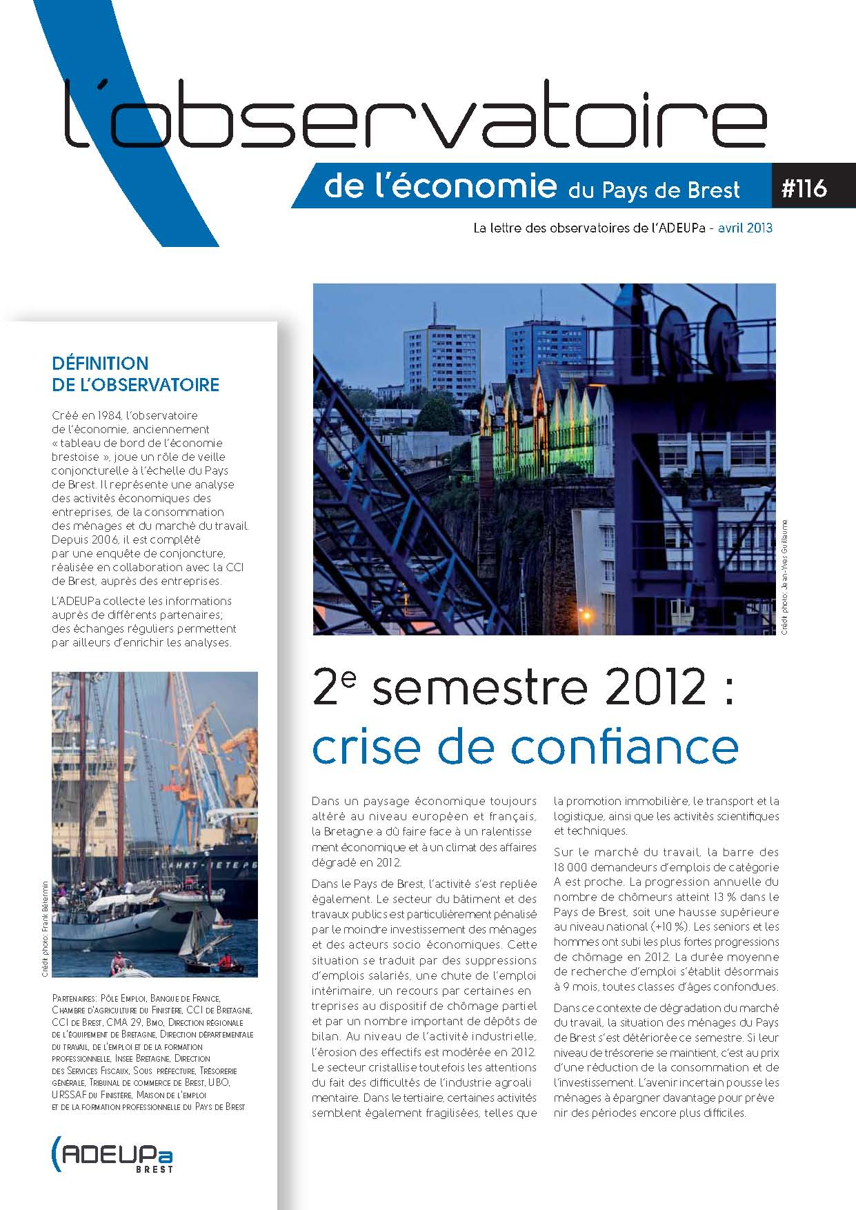 Observatoire de l'économie du Pays de Brest N°116