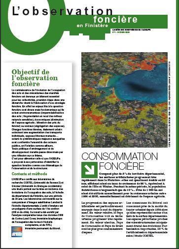 Observation foncière N°1 - consommation foncière dans le Finistère
