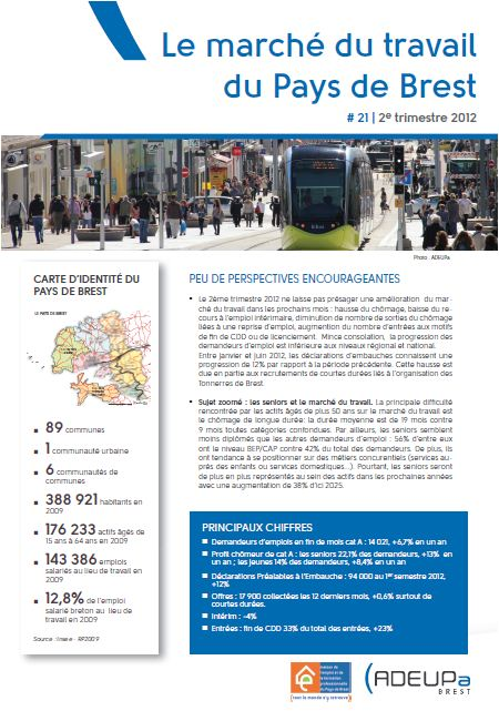 Le marché du travail du pays de Brest N°21 (2ème trimestre 2012)