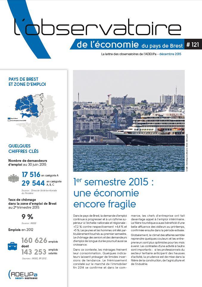 Premier semestre 2015 : une économie encore fragile