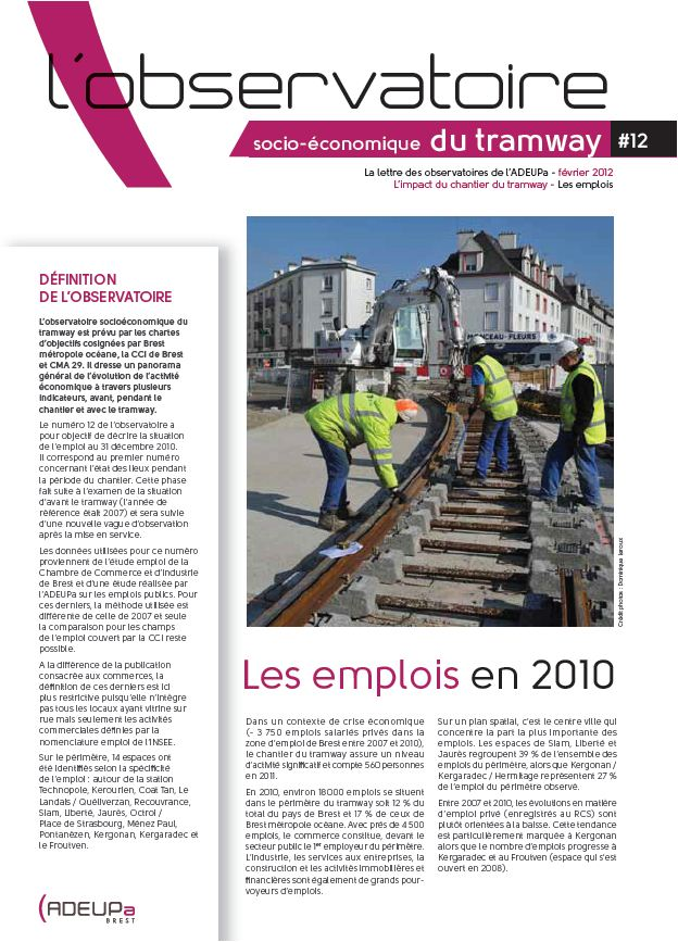 Observatoire socio-économique du tramway N°12