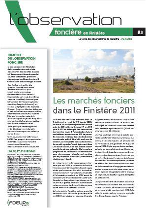 Les marchés fonciers dans le Finistère : 270 millions d'€ en 2011