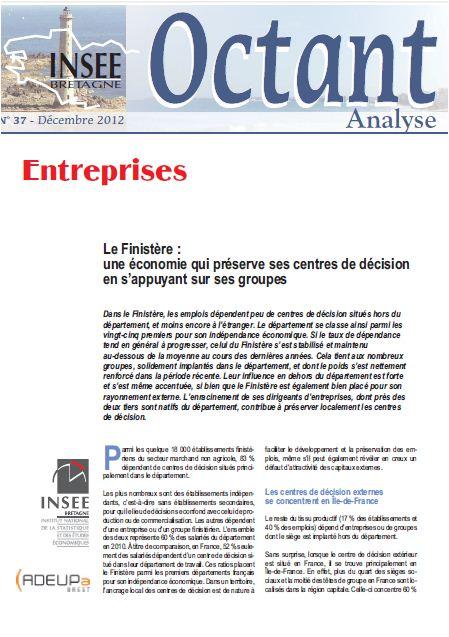 Le Finistère : une économie qui préserve ses centres de décision en s'appuyant sur ses groupes