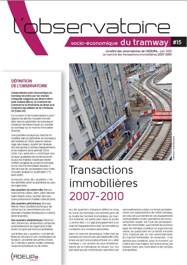 Observatoire des effets socio-économiques du tramway N°15