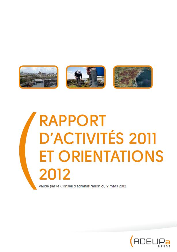 Rapport d'activités 2011 de l'ADEUPa